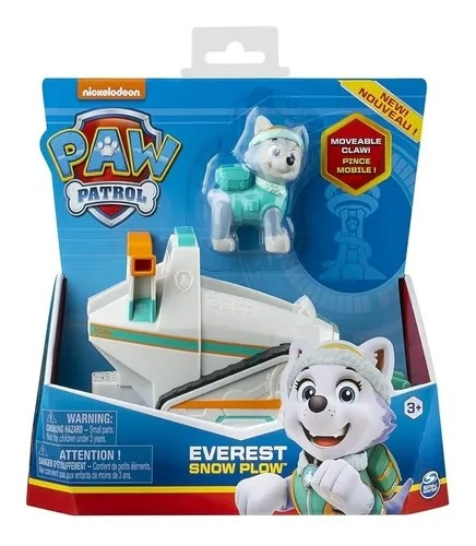 Patrulha Canina - Everest Snow Plow - Veículo com Figura - Sunny