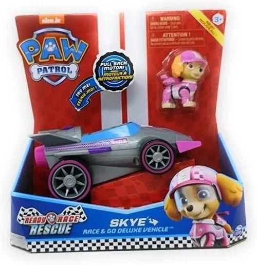 Patrulha Canina Ready Race Rescue - Veiculo Deluxe Com Som  e Figura Skye - Sunny