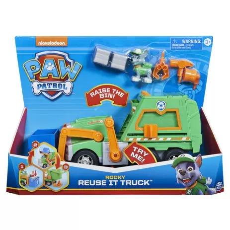 Patrulha Canina Reuse it Truck-  Caminhão de Reciclagem Rocky 30 cm - Sunny