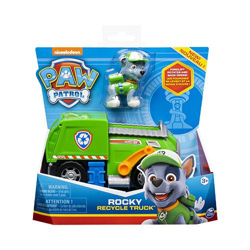 Patrulha Canina - Rocky Recycle Truck Veículo com Figura - Sunny