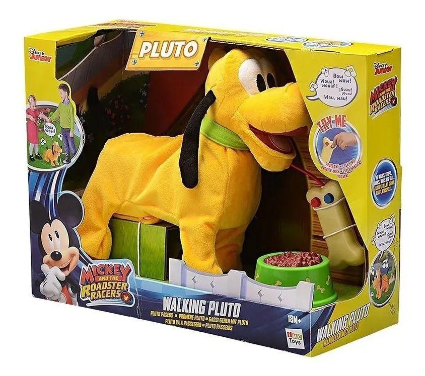 Pelúcia Disney Walking Pluto Passeio C/ Controle E Som - Multikids