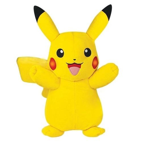 Pelúcia Pokémon - Pikachu Com Luz e Som 36 cm- Sunny