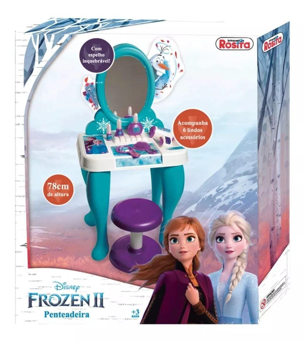 Penteadeira Infantil Frozen 2 Com Acessórios 78cm - Rosita