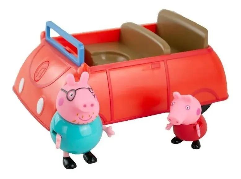Peppa Pig Carro da Familia Pig Com Som e 2 bonecos articulados - Sunny