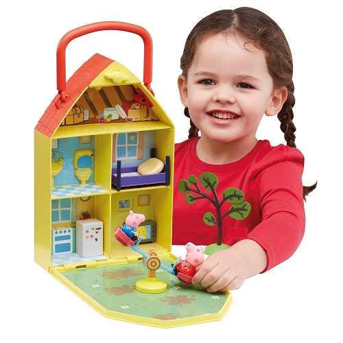Peppa Pig - Casa com Jardim 28cm - Dtc