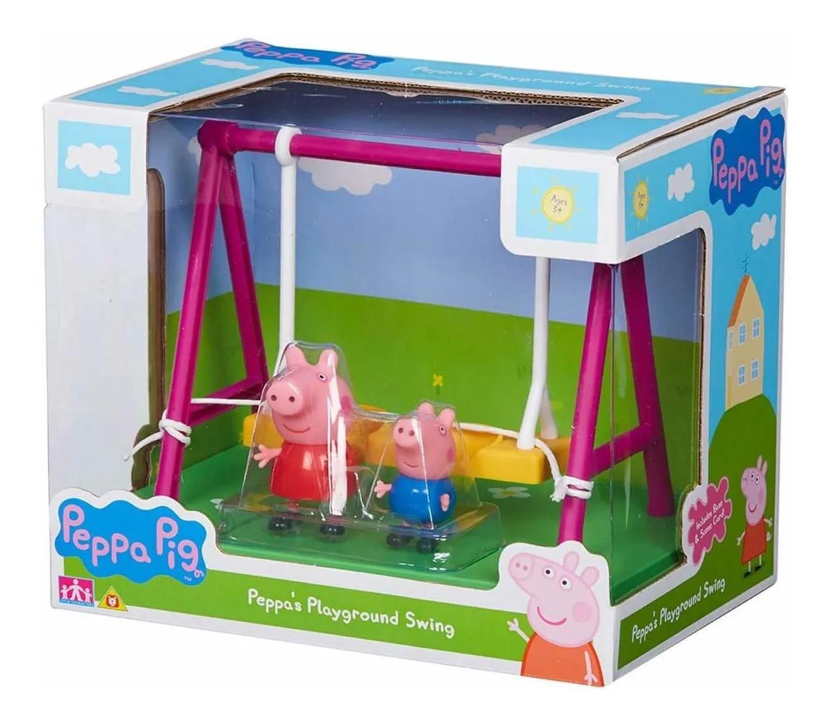 Peppa Pig Parquinho Balanço Peppa e George Articulados  - Sunny