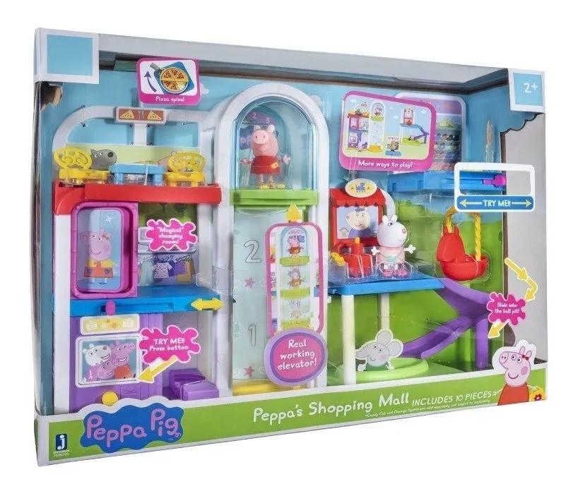 Peppa Pig Playset Shopping da Peppa C/ elevador e 2 bonecos - Sunny
