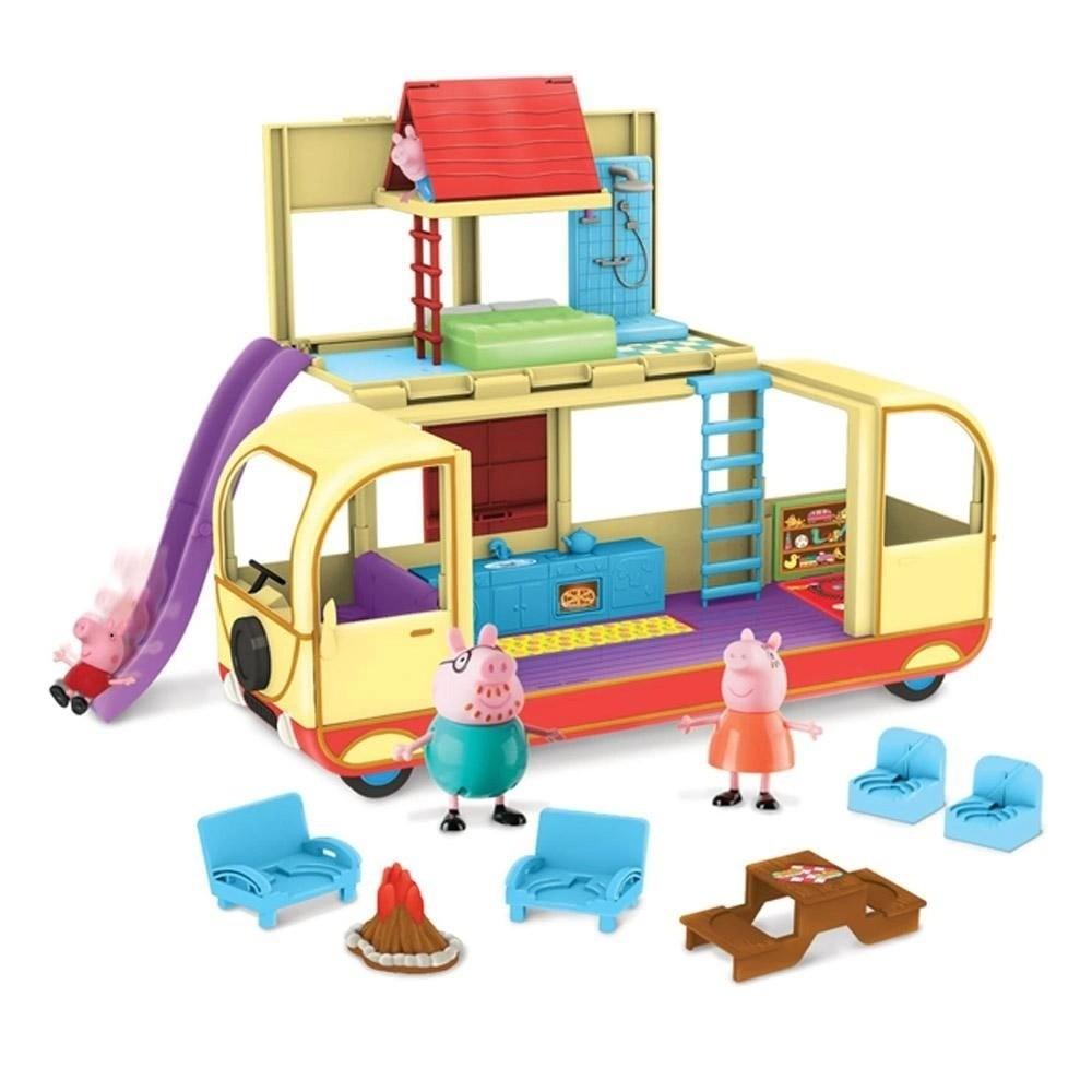 Peppa Pig Playset Van Para Acampar 44 cm Com Som e 4 bonecos - Sunny