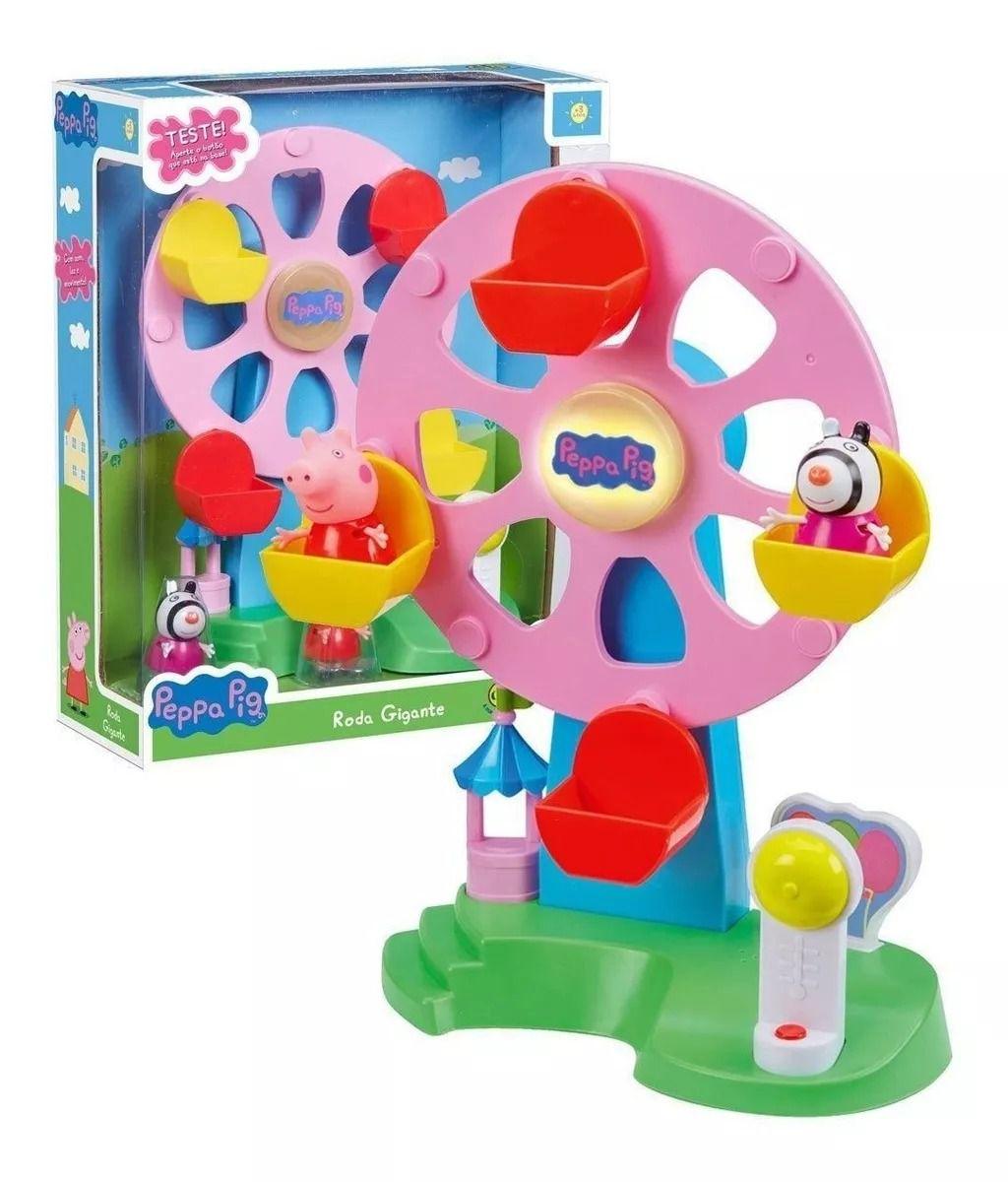 Peppa Pig Roda Gigante Com Luz e Som – 2 bonecos Peppa e Zoe- Dtc