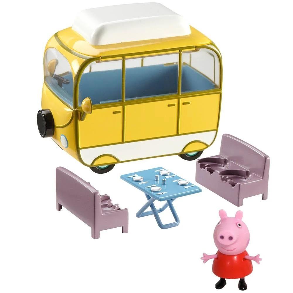 Peppa Pig Veiculo da Peppa 13 cm – Van Acampar  e 1 Boneco Articulado - Sunny