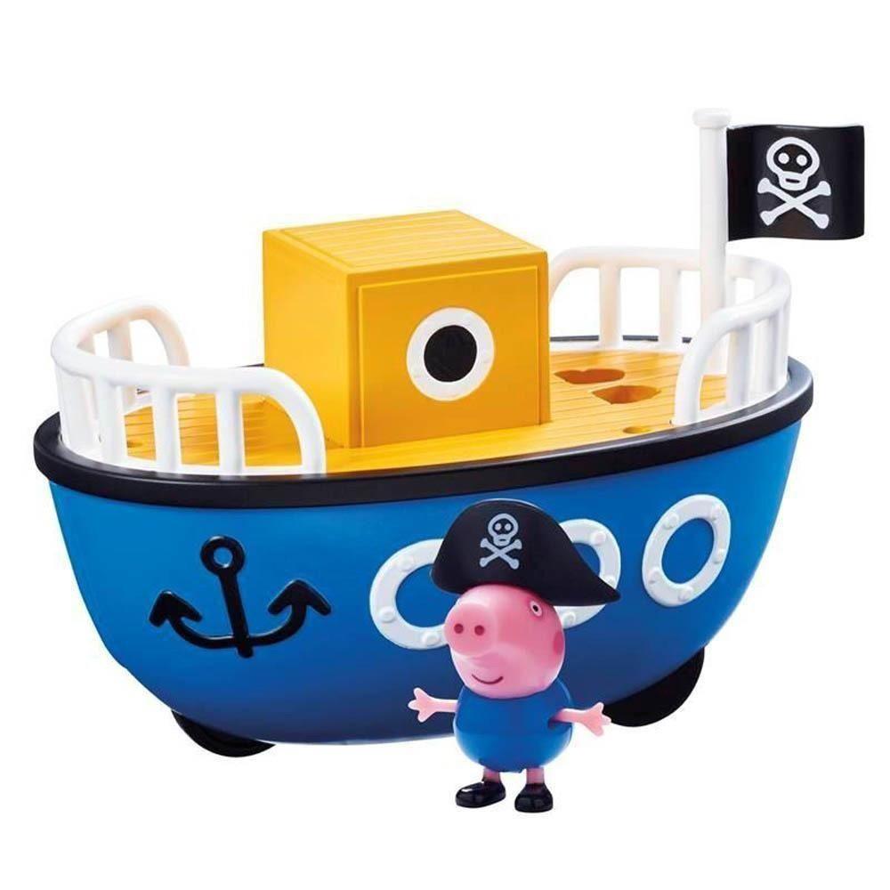 Peppa Pig Veiculo da Peppa 13 cm – Navio Pirata  e 1 Boneco Articulado - Sunny