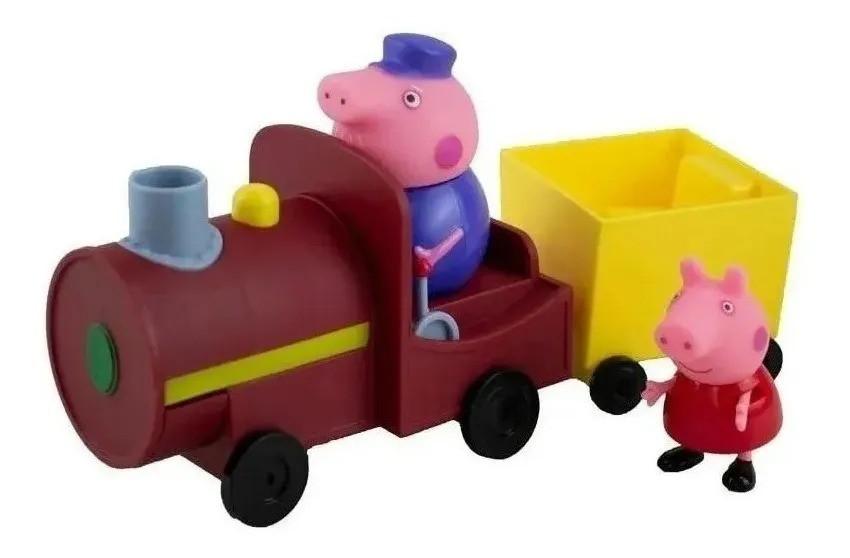 Peppa Pig Vovô Maquinista Trenzinho e 1 bonecos articulados - Sunny