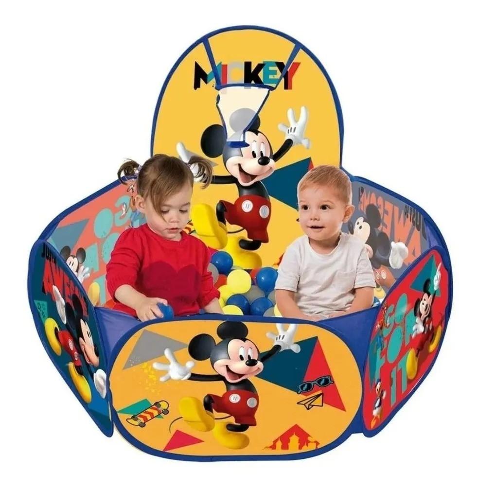 Piscina Infantil de Bolinha Mickey Disney C/ Cesta 100 Bolinhas -  Zippy