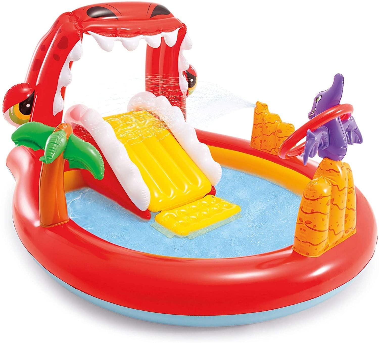 Piscina Infantil Playground Happy Dino 150 litros Intex