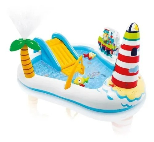 Piscina Infantil Playground Pescaria Divertida 182 Litros - Intex