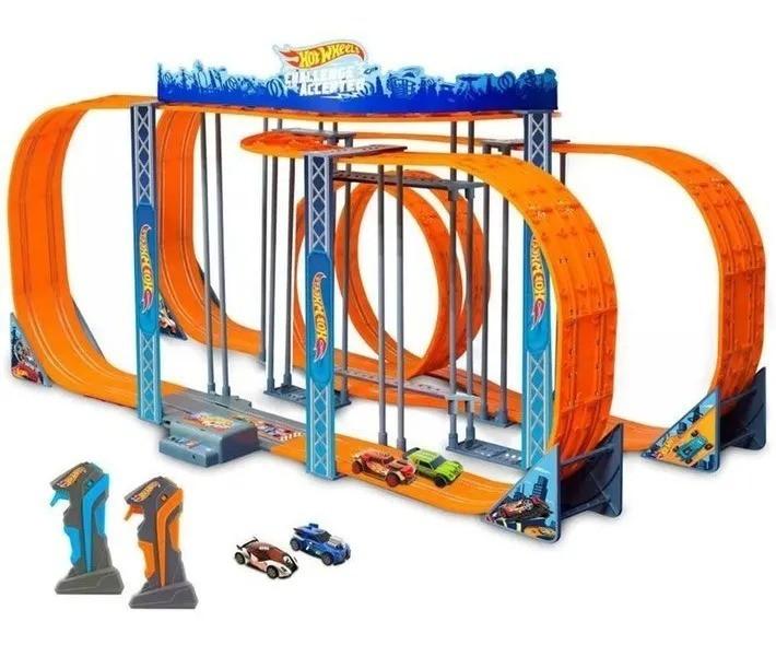 Pista Carrinho Controle Hot Wheels 1300cm Track Set Slot Car Zero Gravity - Multikids
