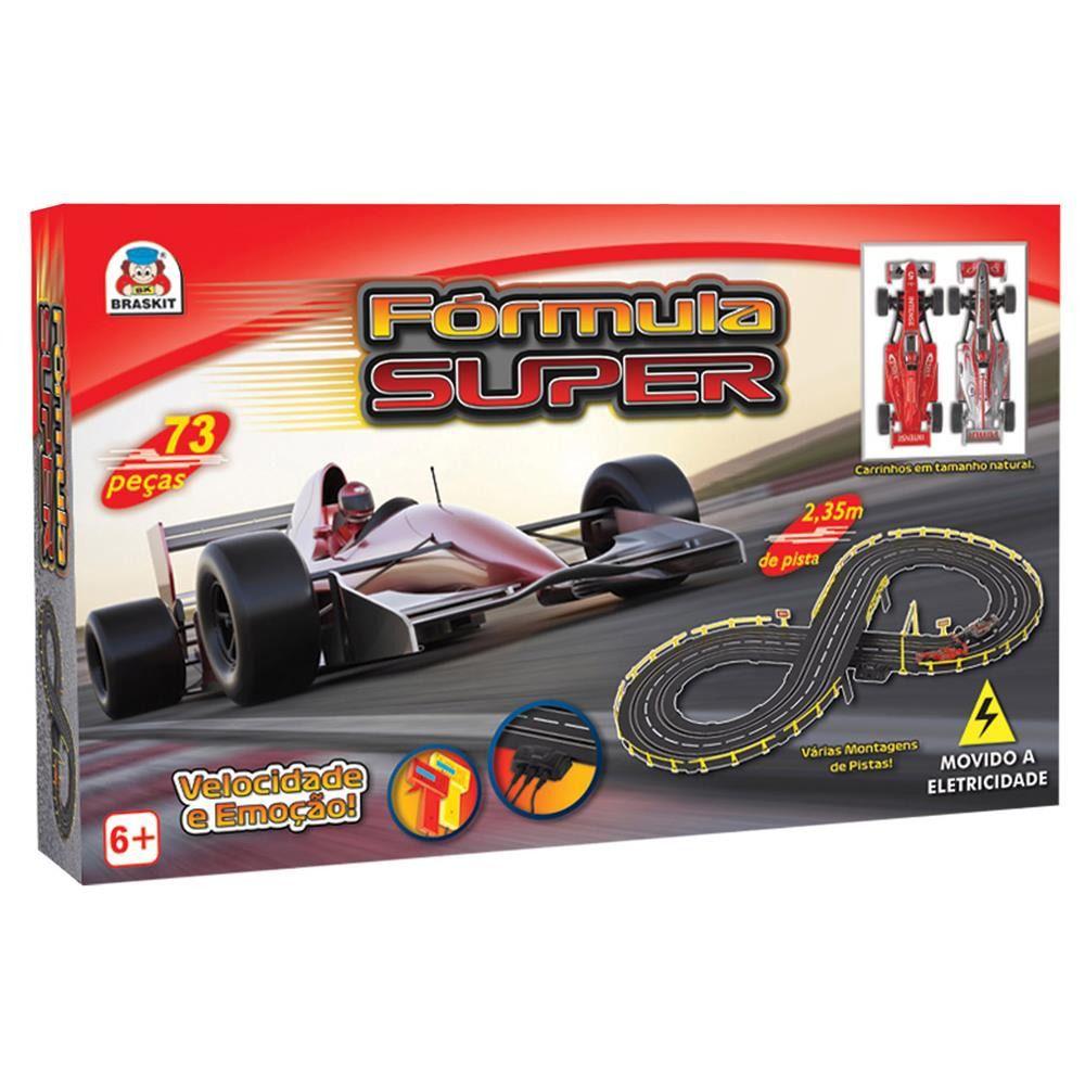 Pista Auto Elétrica Fórmula Super – 3 tipo montagens 2,35 metros - Braskit