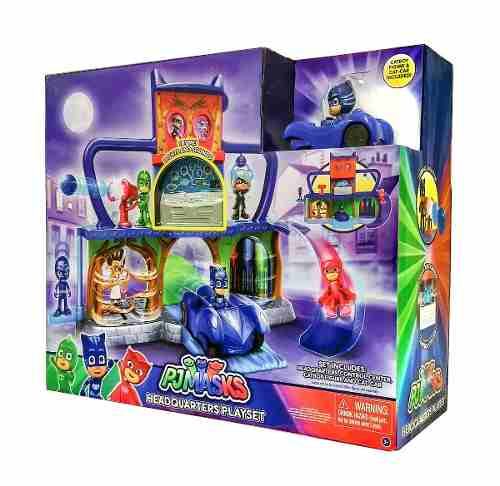 PJ Masks Quartel General Com Luz e Som - DTC