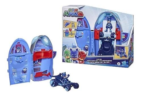 Pj Masks Quartel General Foguete 2 Em 1 - C/ Felinomovel e Menino Gato - Hasbro
