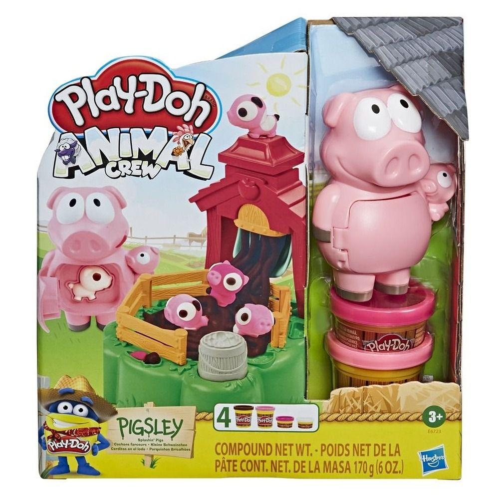 Play Doh Farm Animais Fazenda Porquinhos Brincalhões - Hasbro