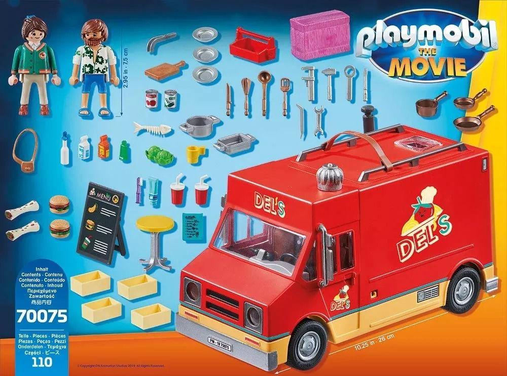 Playmobil 70075 O Filme – Furgão Food Truck do Del - Sunny  - Doce Diversão
