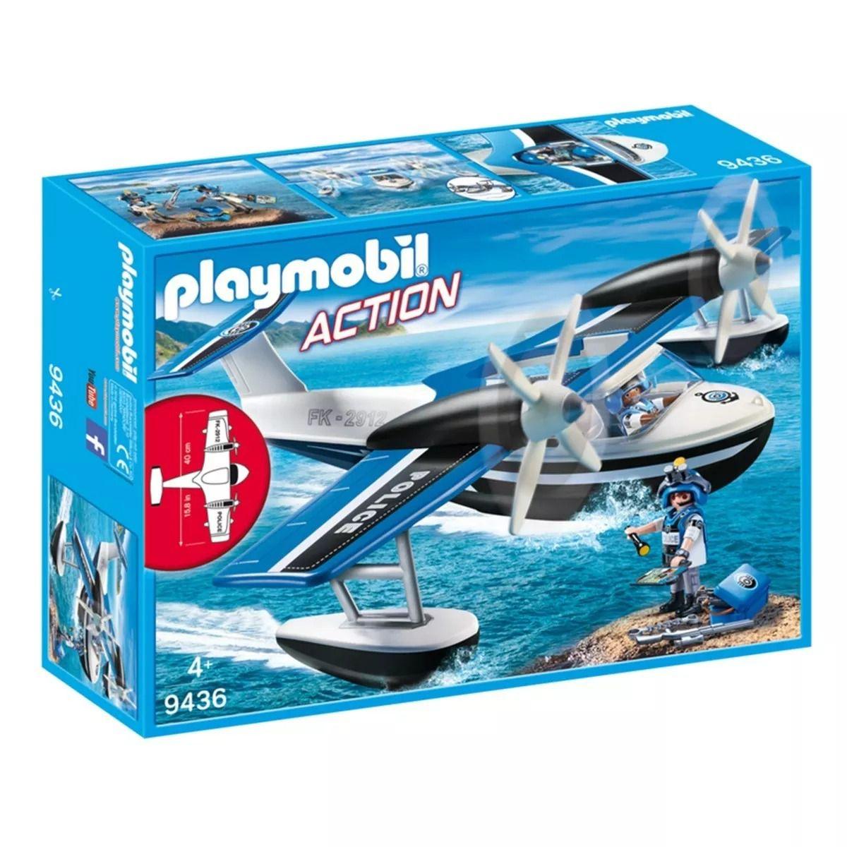Playmobil Action Hidroavião De Policial 40 cm Sunny