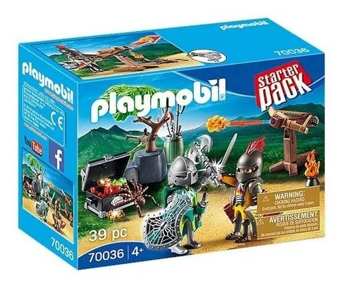 Playmobil Batalha Do Cavaleiro Do Tesouro – 39 peças