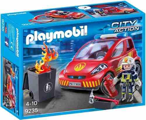 Playmobil City Action Bombeiro Com Carro