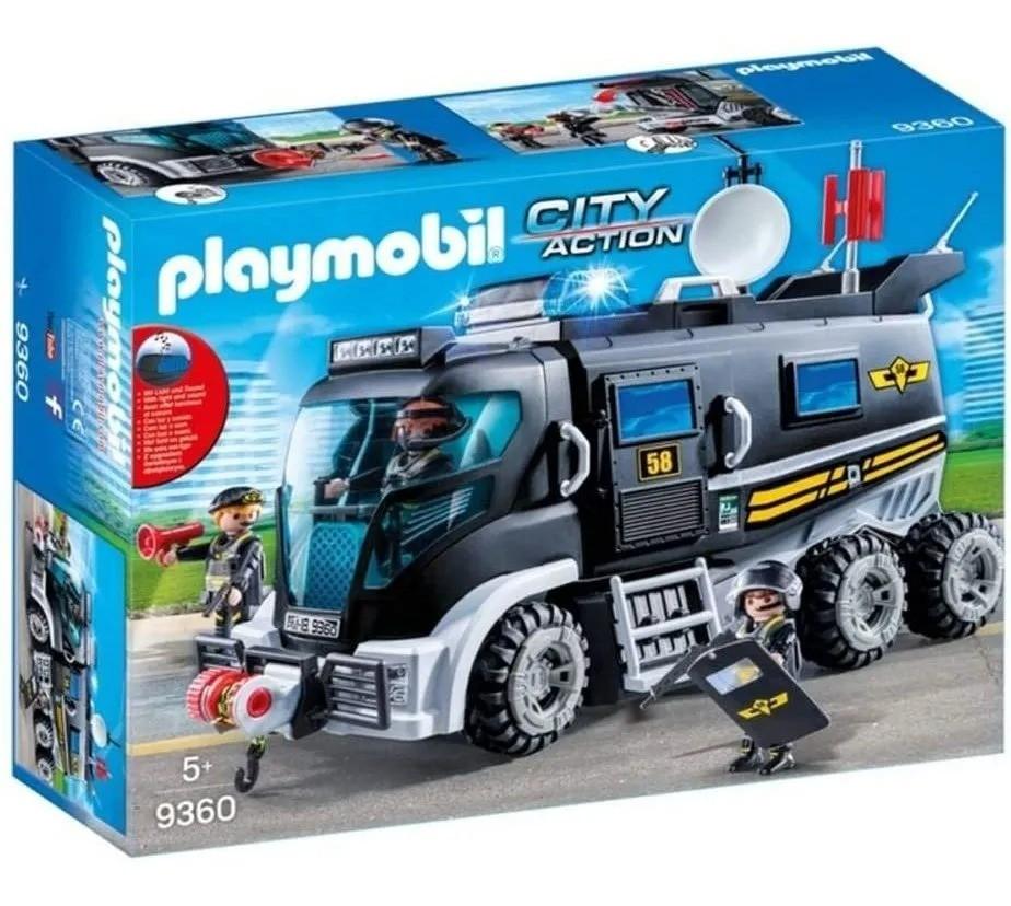 Playmobil City Action Caminhão Unidade Tática Policia C/Som  Sunny