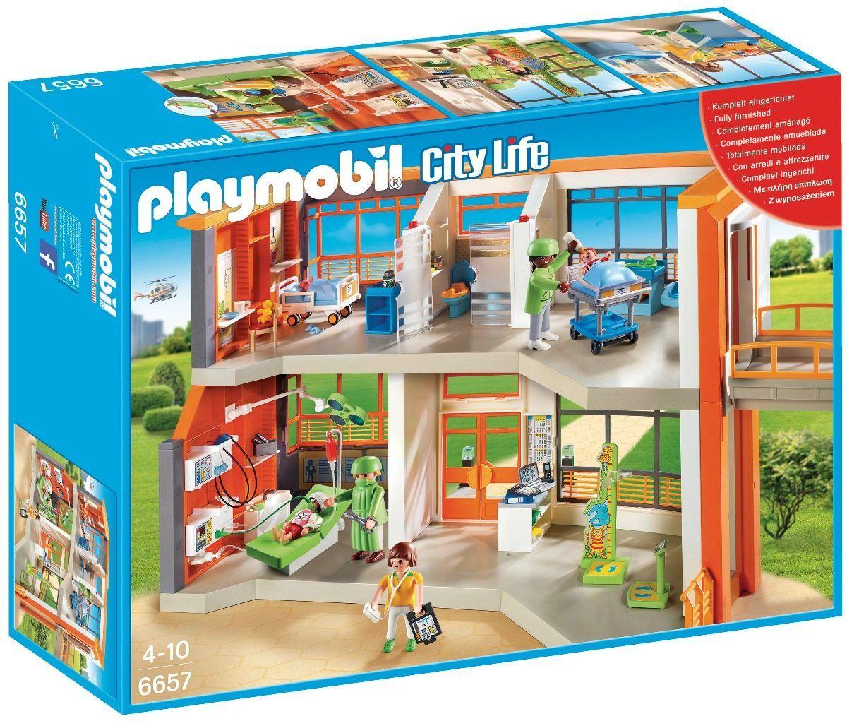 Playmobil - City Life - Hospital Infantil  - 291 peças