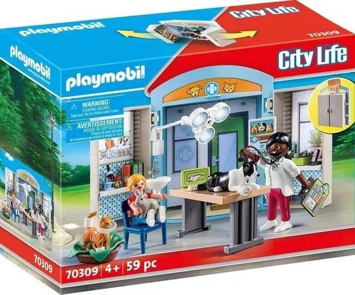 Playmobil City Life Maleta Play Box Clínica Veterinária – 59 peças