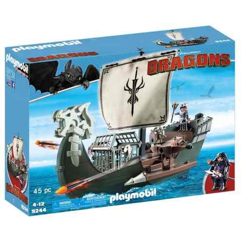 Playmobil Como Treinar O Seu Dragão - Navio De Caça Drago – 45 peças