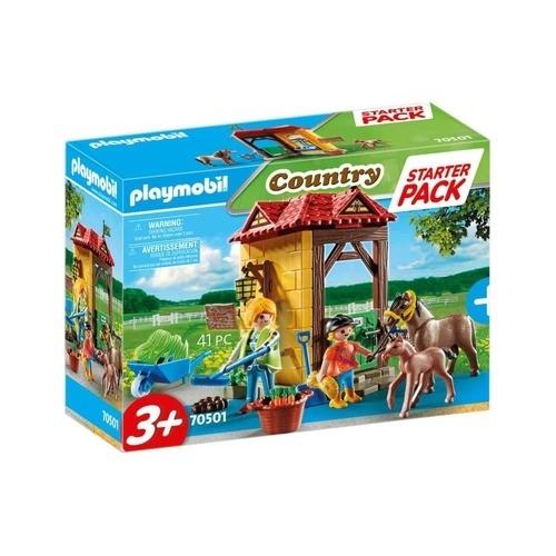 Playmobil  Country Starter Pack - Fazenda Dos Cavalos  41 peças