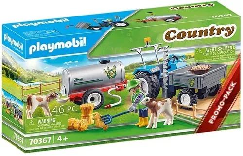 Playmobil Country Trator Com Tanque Para Àgua – 46 peças