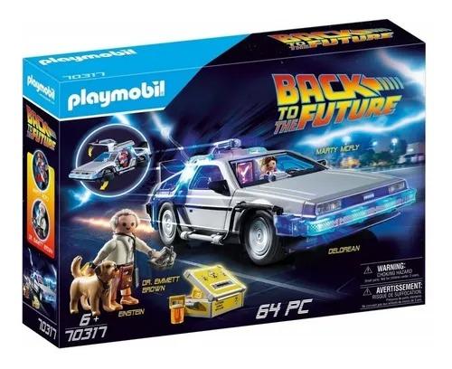 Playmobil De Volta Para o Futuro Delorean - Marty E Dr Emmett  64 peças - Sunny