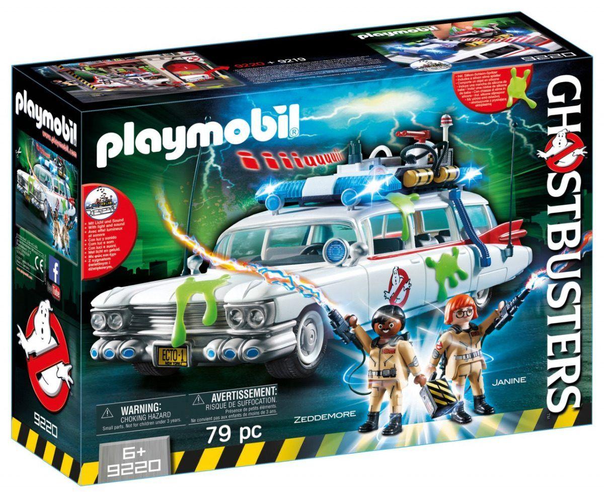 Playmobil Ghostbusters Veículo Com som e luz Caça-fantasmas Ecto-1 - Sunny