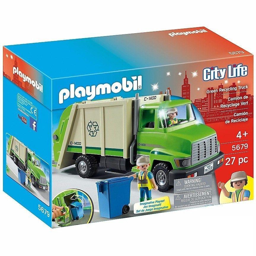 Playmobil Life Caminhão De Reciclagem Com 27 Peças