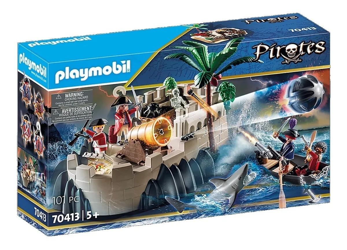 Playmobil Piratas Barco A Remo Com Canhão – 101 peças
