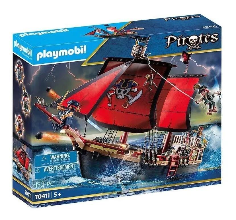 Playmobil Piratas Navio Barco Caveira – 132 peças