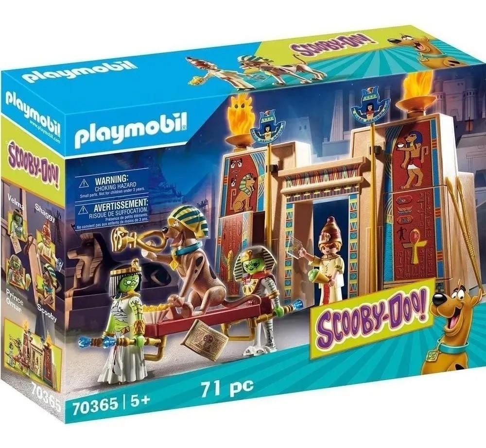 Playmobil Scooby Doo! Aventura Com Monstros No Egito – 71 peças