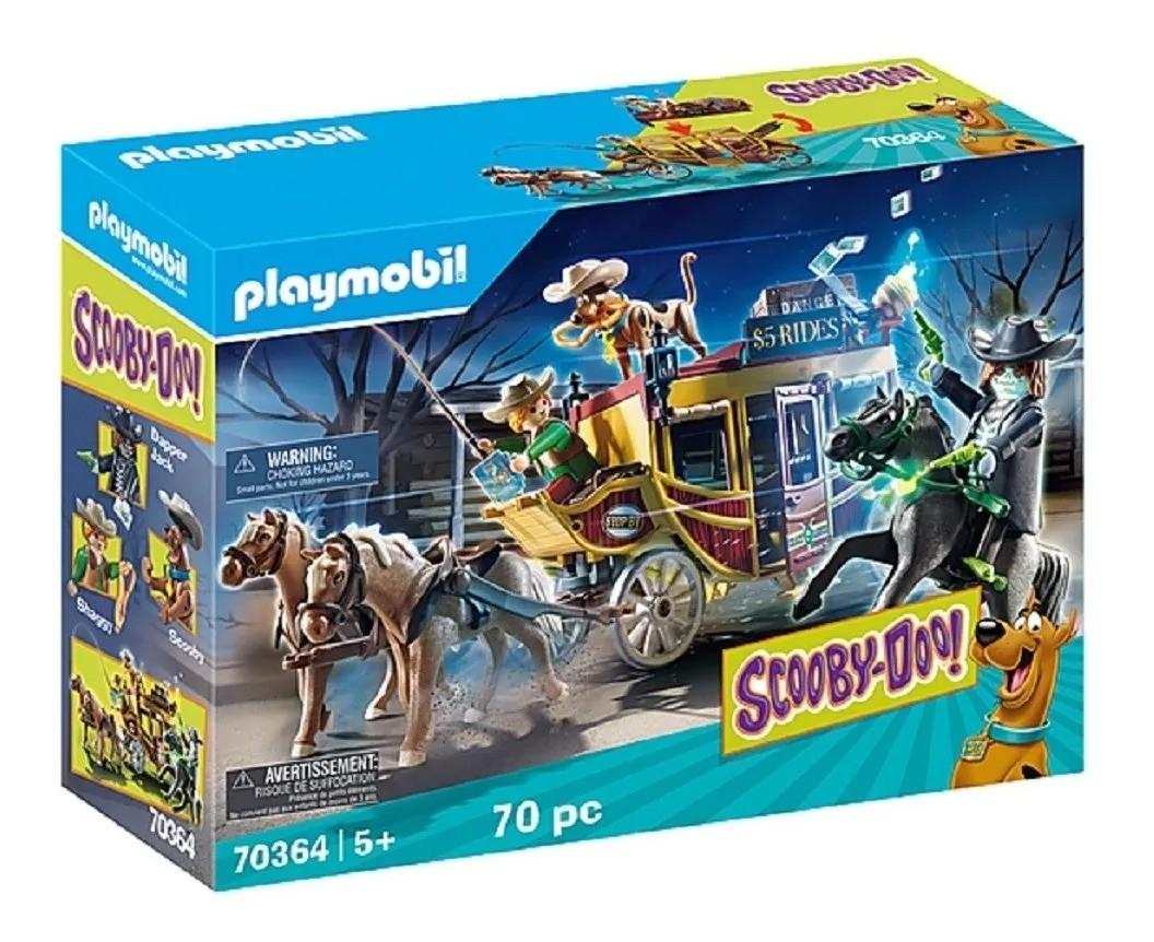 Playmobil Scooby Doo! Aventura Com Monstros No Oeste Selvagem – 70 peças