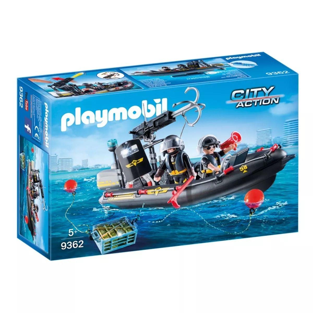 Playmobil Unidade Tática Com Bote Flutua e lança Dardo - Sunny