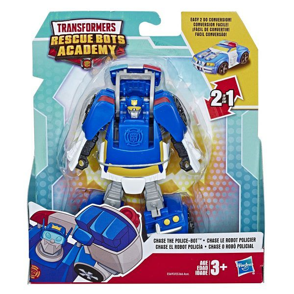 Playskool Transformers Rescue Bots Academy 2 em 1-  Chase Policial 14 cm -  Hasbro
