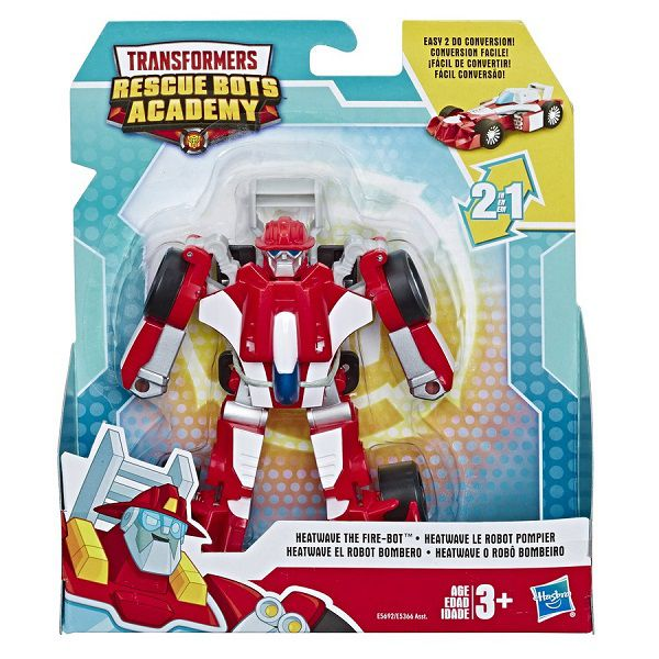 Playskool Transformers Rescue Bots Academy 2 em 1-  Heatwave Bombeiro 13 cm -  Hasbro