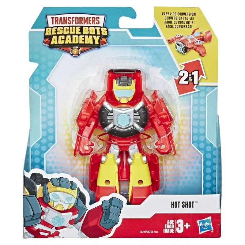Playskool Transformers Rescue Bots Academy 2 em 1-  Hot Shot 13 cm -  Hasbro