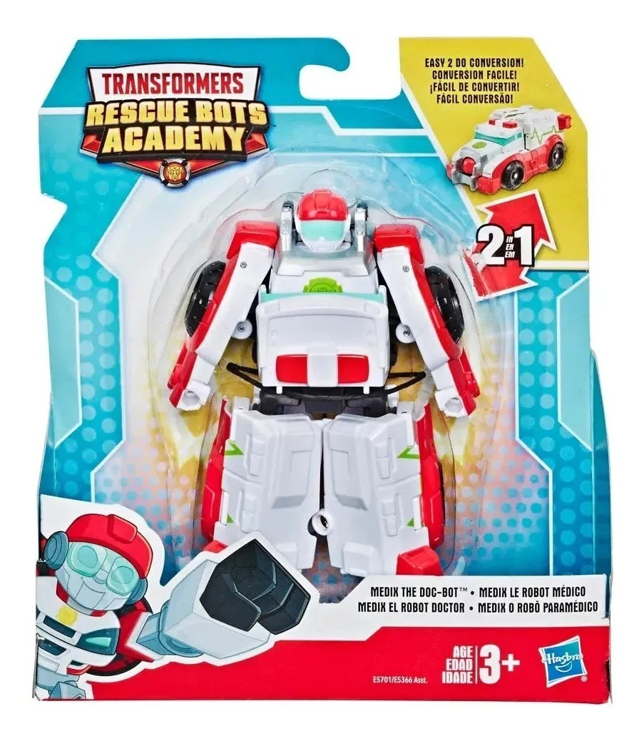 Playskool Transformers Rescue Bots Academy 2 em 1-  Medix 13 cm -  Hasbro