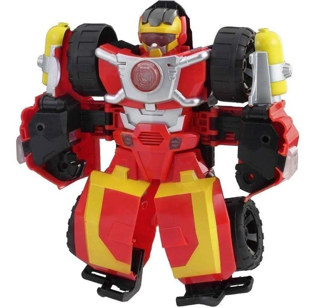 Playskool Transformers Rescue Bots Eletrônico Hot Shot 23 cm C/ Som e Luz -Hasbro