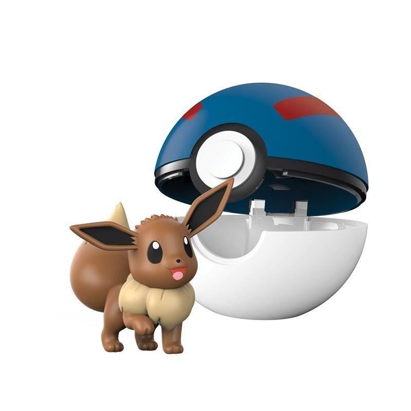 Pokémon Clip N Go Pokébola Com Clip - Eevee e Super Ball Dtc