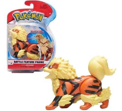 Pokémon Deluxe Action Battle Feature - Arcanine 10 Cm Articulado  Sunny
