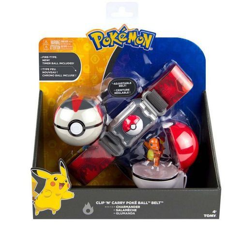 Pokémon kit – Cinto Clip + Pokebola + Ultraball Com Charmander - Tomy